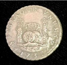 RARE 1736 Mexican Pillar Dollar from The 1739 Wreck Of The Rooswjjk