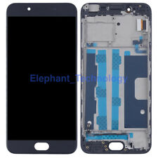 For OPPO R9S Black LCD Screen Display Touch Screen Digitizer With Frame NSW