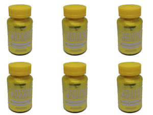 6 Pack Turmeric, Ginger and Fenugreek, 180 caps for 6 months supply