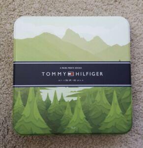 Tommy Hilfiger Metal Socks Tin Keepsake Box TIN ONLY