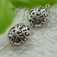 free ship 60 pcs tibet silver nice hollow spacer beads 17x14mm #2734