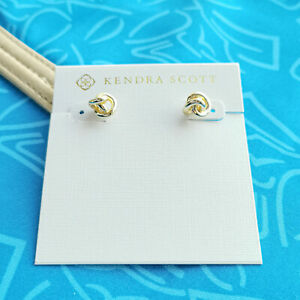 Kendra Scott Presleigh Love Knot Gold stud earrings - Free Shipping