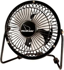 """Polar-Aire Vf-4Usb High Velocity Floor Fan, 4"""", Black"""