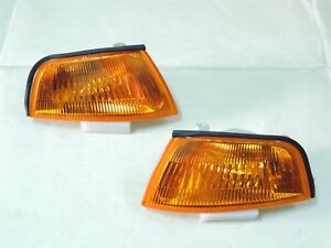 Mitsubishi Lancer Evo 4 IV Mirage Crystal Amber Corner Lights Lamps 1995 96~1998