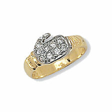 Cubic Zirconia Yellow Gold Fine Rings