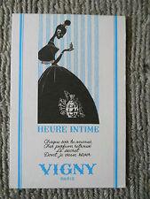 "CARTE PARFUMEE ANCIENNE""HEURE INTIME"" de VIGNY - PARIS"
