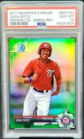 2017 Bowman Chrome GREEN REFRACTOR Nats JUAN SOTO RC Card /99 PSA 10 GEM MINT