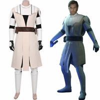 Star Wars: The Clone Wars -Obi- Wan Kenobi Cosplay Uniform Costume Suit