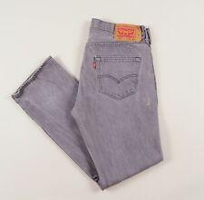 Vintage LEVI'S 501 Grey Regular Straight Mens Jeans 34W 32L 34/32 /J24008