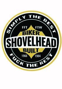 Sticker Decal - Shovelhead Harley by RatRodRalphy