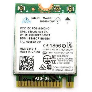 HP Intel Tri-band Wireless AC 18260NGW M.2 NGFF Bluetooth 4.1 Wifi Card 867M