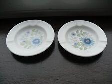 """Pair of Wedgwood Clementine Bone China 4 1/2"""" Diameter Ash Trays"""