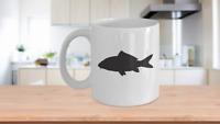 Koi Mug White Coffee Tea Cup Funny Gift for Fish Mom Lover Coy Pond