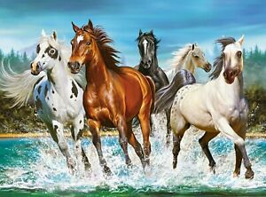 New 2000 Pieces pcs pc Puzzle jigsaw Castorland Call of Nature horses C-200702