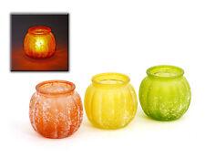 Teelichtglas 3 Stück Dekoration Tischdeko Party Garten Terrasse  Schale 50142