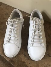 Kendall Kylie Womens Reese Leather Sneakers White Homerun Platform Creepers 11