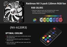 (NV-A120R3) Raidmax NV 3-pack 120mm RGB fan (NV-A120R3)
