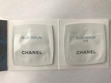 Chanel Blue Serum and Blue Serum Eye 2 Piece Set New Samples 0.03oz/1ml  each