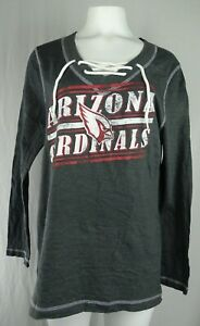 Arizona Cardinals NFL Majestic Women's Lace-Up Lightweight Pullover