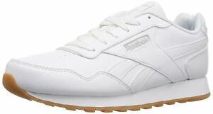 Reebok Womens Harman Run Low Top Lace Up Tennis Shoes, White/Gum, Size 8.5 AHr7