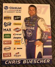Chris Buescher Signed Promo Hero Card Nascar Autographed 2018