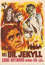 Programa de mano EL HIJO DEL DR. JEKYLL (Louis Hayward)
