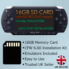 PSP 16GB Memory card with CFW 6.60 + Retro Emulators PSP1000,2000,3000