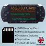 PSP 16GB Memory card with CFW 6.60 + Retro Emulators PSP1000,2000,3000