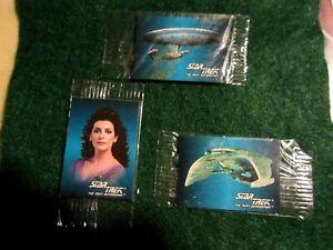 3 Hostess Frito Lay Star Trek TNG Cards
