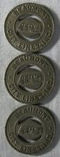 3 - Beaumont Texas City Lines Bus Tokens whotoldya Lot 41718