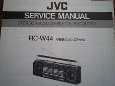JVC RC-W44 RADIO REGISTRATORE A CASSETTE MANUALE servizio riparazione diagramma di cablaggio parti