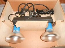Vintage Tower Portable Lamp Movie 2 Bulb Light Bar/Strip # 8845 WORKS