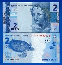 Brazil P-252 Two Reais Year ND 2015 Turtle Uncirculated Banknote