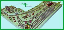Piko H0 A-Gleis Gleisplan A1 für Anlagenplanung, HO, Set 4,0 x 3,3 m