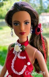 Barbie Lot 2017 Teresa Holiday Head Fashionista Body w/ Dress Shoes Collet-Art