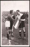 s1645) Fußball Länderspiel Österreich : Italien 2.4.1950 Fotokarte 11 OU Italien