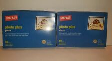 Staples 4x6 Photo Plus Gloss Paper - 2 Packs Of 60 Sheets 120 Total Sheets