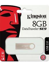 CHIAVETTA USB KINGSTON 8 O 16 GB PENNETTA SE9 DATATRAVELER METALLO MEMORIA PEN