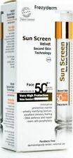 Frezyderm Sun Screen Face  Velvet Spf 50+ Second Skin Technology 50ml