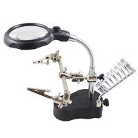 LENTE di INGRANDIMENTO LED elettrica Multi Funzione Tool set supporto saldatura
