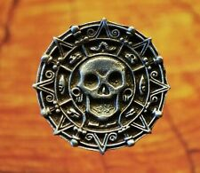Pirate Skull Buttons, Pirate Costume Buttons, Set of TWO Crafted in Fine Pewter