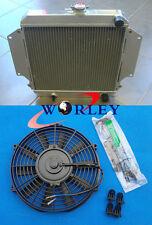 "SUZUKI SIERRA 2Dr SPFTOP/HARDTOP SJ410/413 7/81-3/96 Aluminum Radiator & 12""FAN"