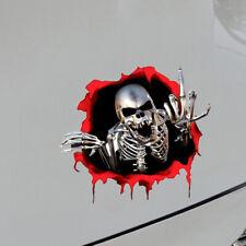 3D Metal Skeleton Skull Decal Car Sticker Badge Emblem Decor Car Accessories