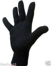 Gants en laine Noir spécial hiver Homme femme T.U Envoie rapide et soignée