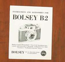 BOLSEY B2 INSTRUCTION BOOK/37905