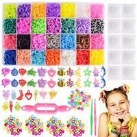 Max Fun 10700+ DIY Rainbow Mega Refill Looms - Rubber Band Bracelet Maker Kit fo