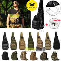 Tactical Sling Chest Bag Assault Pack Messenger Shoulder Bag Backpack Molle+Gift
