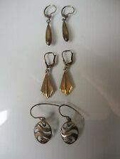 3 Paar schöne , alte Ohrringe__Ohrhänger__925 und 835 Silber_
