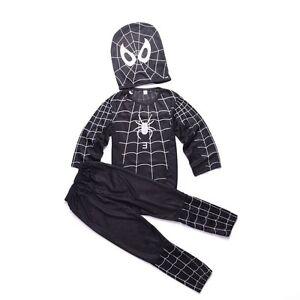 Chilrd Spider Man 3 VENOM Costume Shirt Trousers Outfit Halloween Superhero