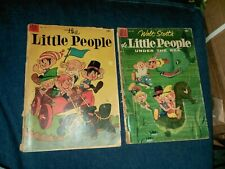 Little People 573 (#2) 633 (#3) Dell Comics Lot Run Set Collection four color